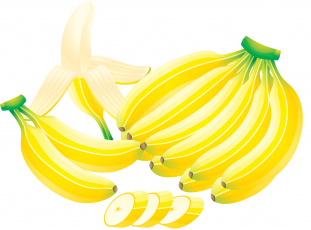 Картинка векторная+графика еда фон бананы