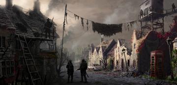Картинка filip+dudek фэнтези иные+миры +иные+времена иной постапокалипсис разрушения охрана солдаты люди мир