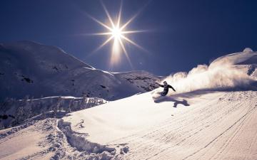 обоя спорт, лыжный спорт, снег, гора, лыжи