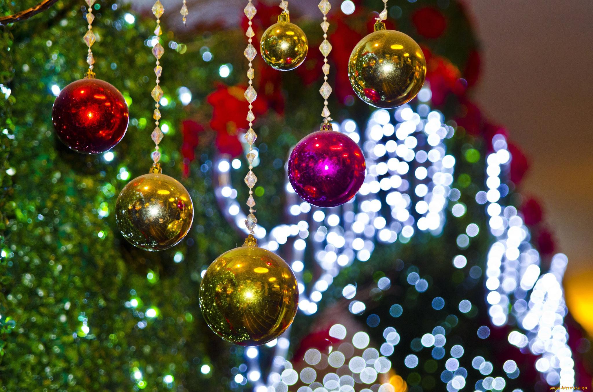 елка,шары,огоньки  № 340845 бесплатно