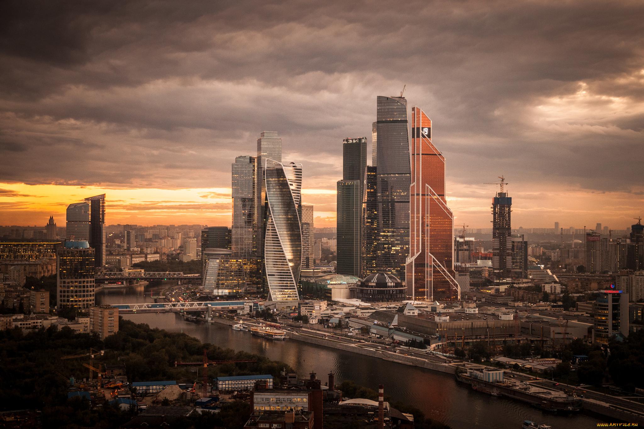 страны город архитектура ночь Москва сити Россия  № 2582911 загрузить