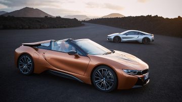 обоя bmw i8 roadster and coupe 2019, автомобили, bmw, 2019, coupe, i8, roadster