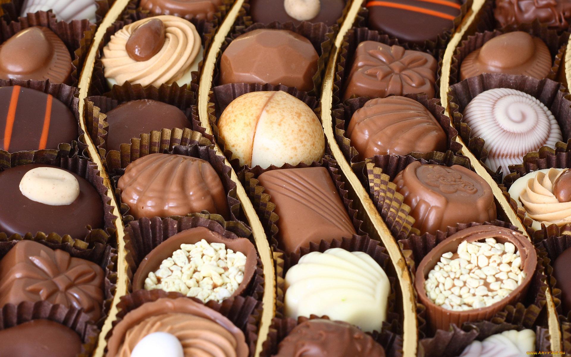 Днем рождения, красивые конфеты фото