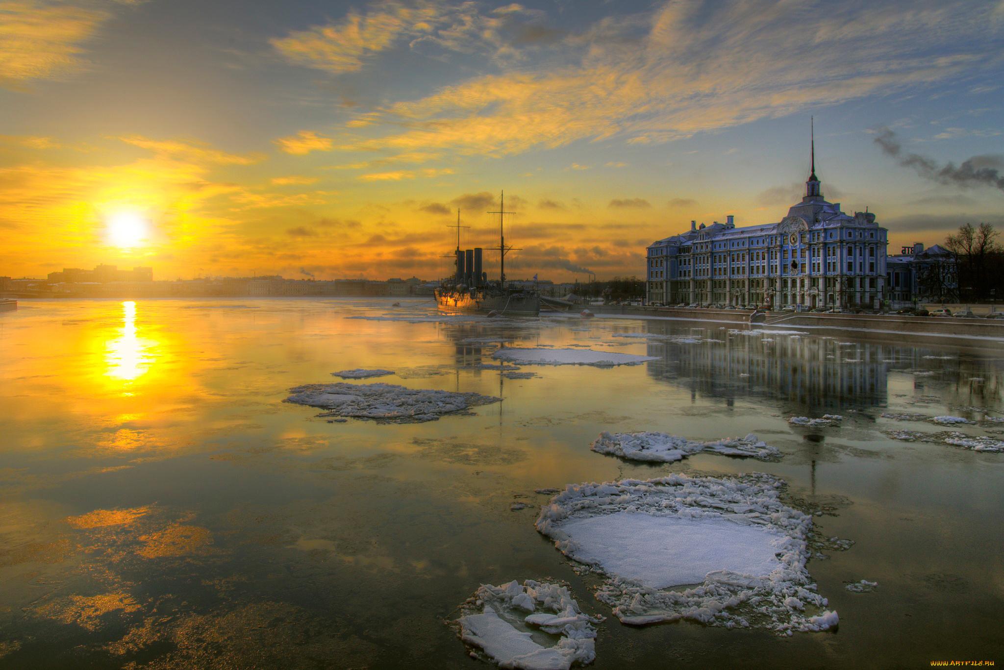 Санкт-Петербург корабль закат  № 3945060 без смс