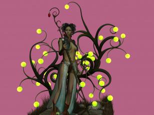 Картинка 3д+графика амазонки+ amazon взгляд девушка шест фон