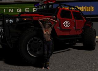 Картинка автомобили 3d+car&girl взгляд фон автомобиль девушка