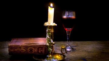 обоя разное, канцелярия,  книги, книга, вино, свеча, бокал