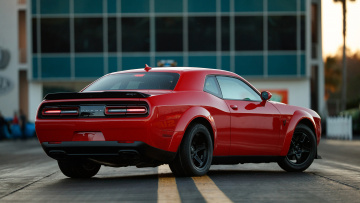 обоя dodge challenger srt demon 2018, автомобили, dodge, red, 2018, demon, srt, challenger