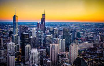 Картинка города Чикаго+ сша Чикаго иллиноис город высота небоскребы