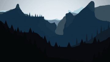 обоя векторная графика, природа , nature, горы