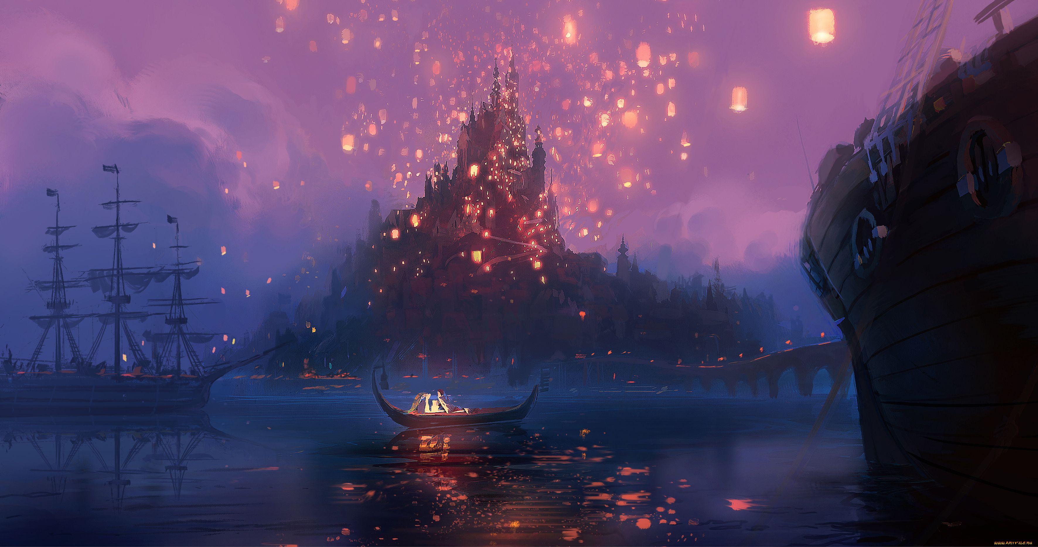 Принцесса под небесными фонариками  № 2222711 бесплатно