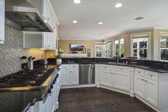обоя интерьер, кухня, светильники, стулья, мебель, fruit, lamps, chairs, furniture, kitchen, фрукты