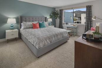 обоя интерьер, спальня, люстра, кресло, стиль, штора, кровать