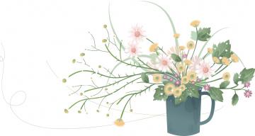 обоя векторная графика, цветы , flowers, фон, цветы, букет