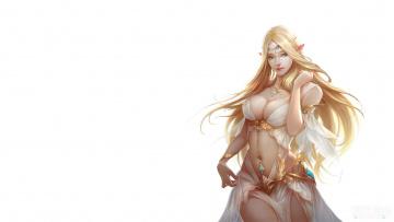 Картинка фэнтези эльфы эльфийка игра девушка рыцарь небес кокетка games маг
