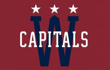 обоя спорт, эмблемы клубов, фон, логотип, washington, capitals