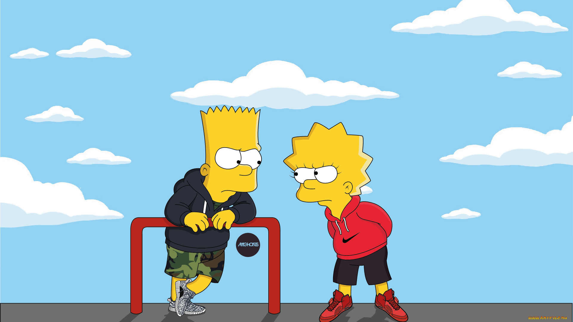 Bart Simpson Supreme Wallpapers Wallpaper Cave Classycloud Co