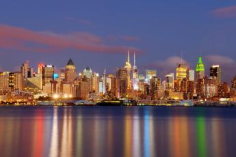 Картинка new york city города нью йорк сша здания