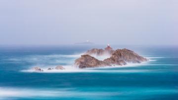 Картинка природа маяки скалы море выдержка