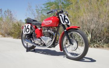 обоя 1947-triumph-grand-prix, мотоциклы, triumph