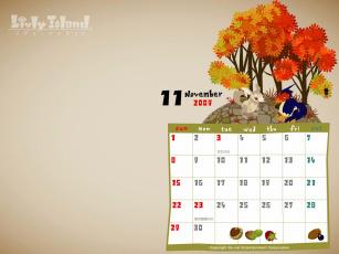 обоя календари, рисованные, векторная, графика