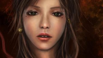 Картинка фэнтези девушки лицо глаза