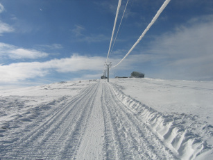 Картинка природа зима снег дорога
