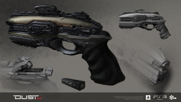 Картинка scrambler pistol видео игры dust 514 пистолет