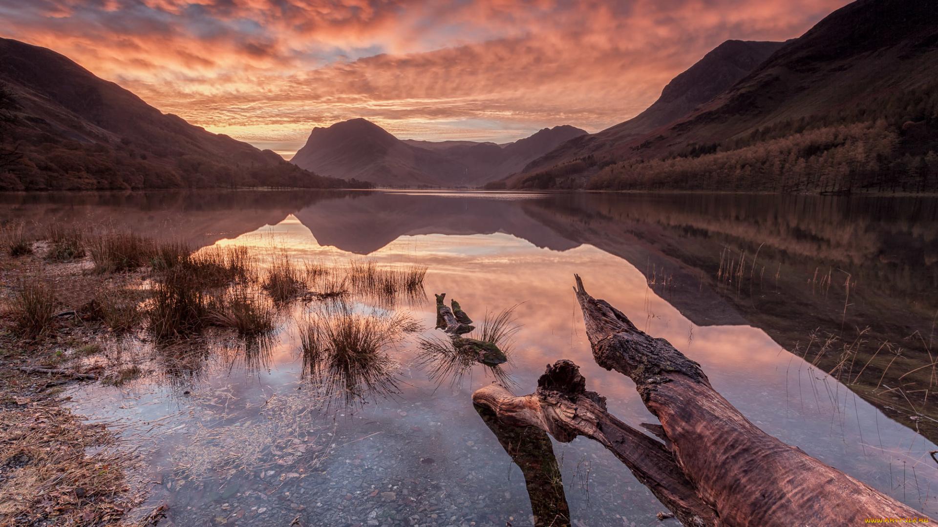 закат горы озеро загрузить