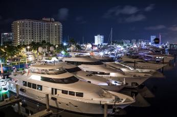обоя fort lauderdale international boat show, корабли, Яхты, суперяхта