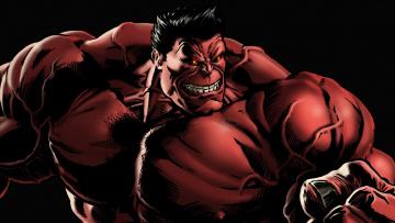 обоя рисованное, комиксы, red, hulk